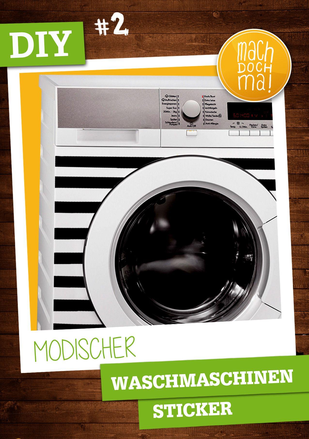 Unser #DIY Tipp Nummer 2. Die #Waschmaschine muss nicht immer nur Weiß daher kommen. Passe den Look deiner Küche oder des Bads an. Im Digitaldruck ist jeder Wunsch umsetzbar.