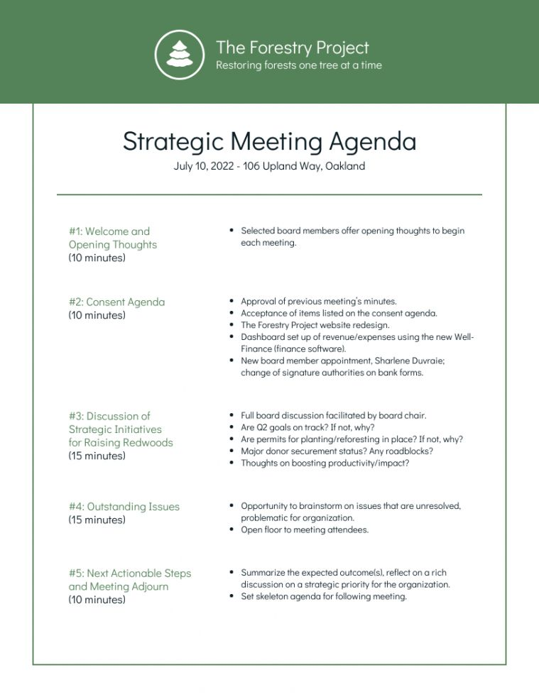 Nonprofit Environmental Board Meeting Agenda Template Corporate Board Of Directors Meeting Ag Meeting Agenda Meeting Agenda Template Agenda Template