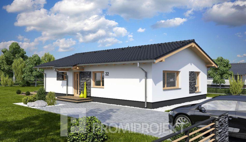 Úsporný 4 izbový bungalov na úzke pozemky Laguna 19, vizuál 1 ...