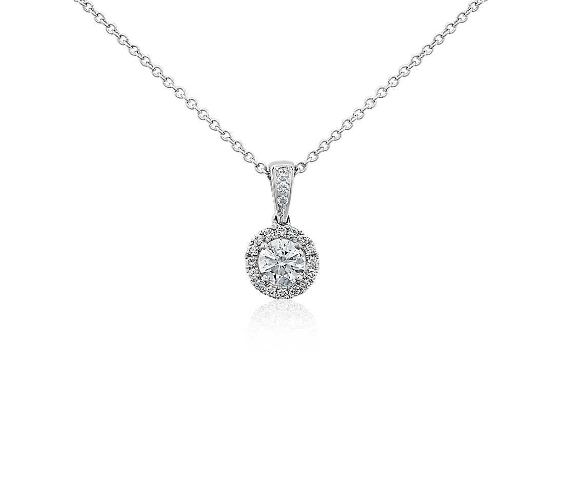 Halo diamond pendant in 18k white gold 12 ct tw halo halo diamond pendant in 18k white gold 12 ct tw aloadofball Gallery