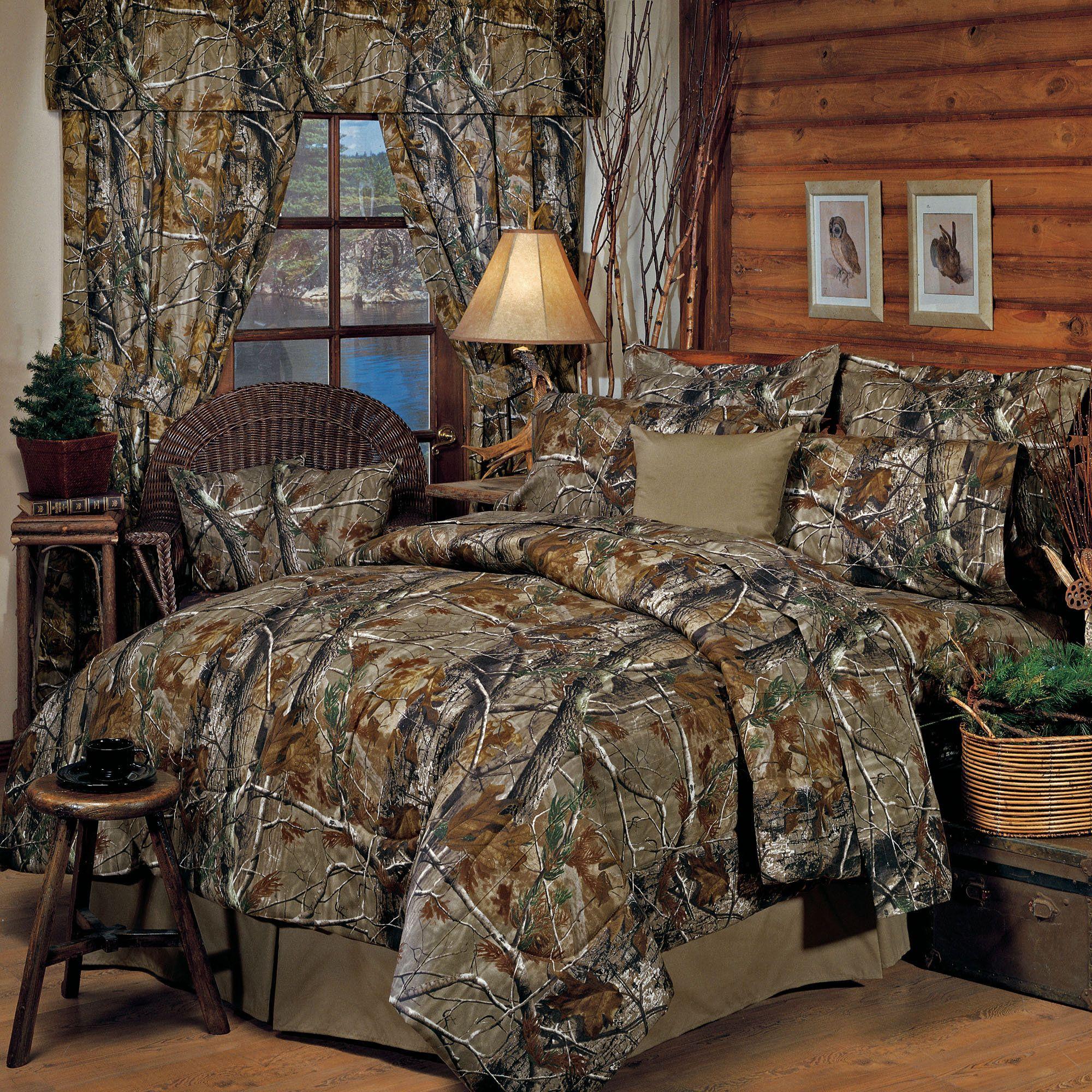 RealtreeR Rustic Camo Comforter Bedding