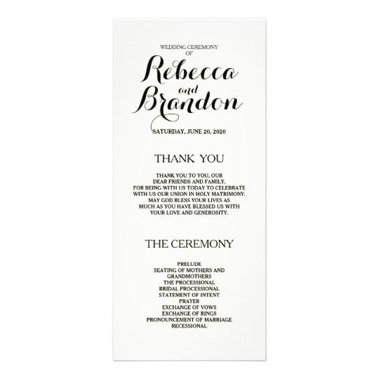 Designer Script Custom Wedding Program Steph Ryan Pinterest - Easy wedding program template