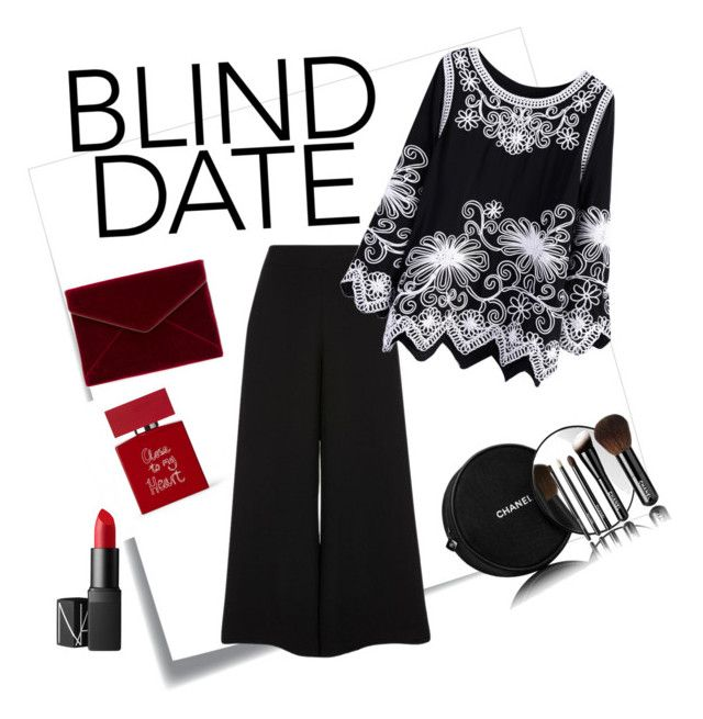 """""""Blind Date"""" by noviarizkiyani on Polyvore featuring Post-It, Bella Freud, River Island, NARS Cosmetics, Chanel and Rebecca Minkoff"""