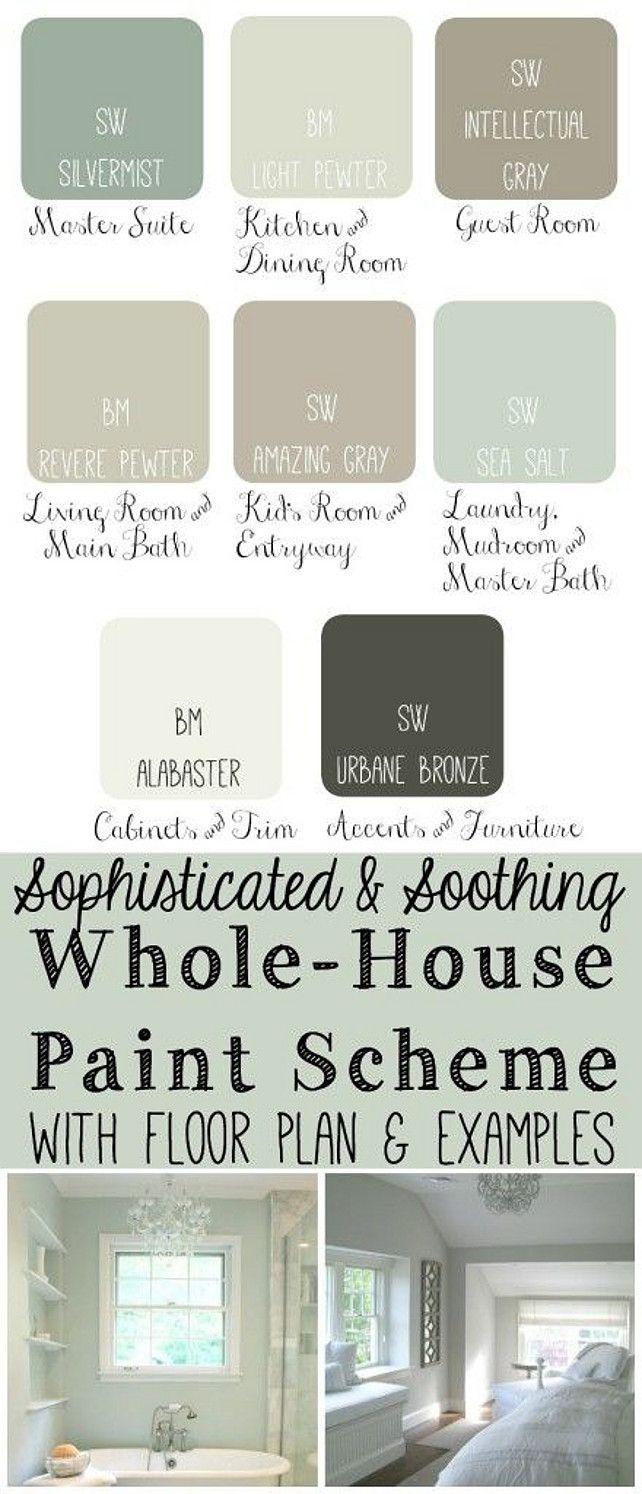 Whose House Coastal Paint Scheme. TheDomesticHeart.com | Pastel ...