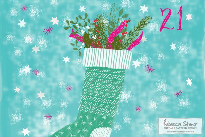 Illustrated Advent 2015 - Day 21 - Rebecca Stoner Surface Pattern Design #surfacepatterndesign