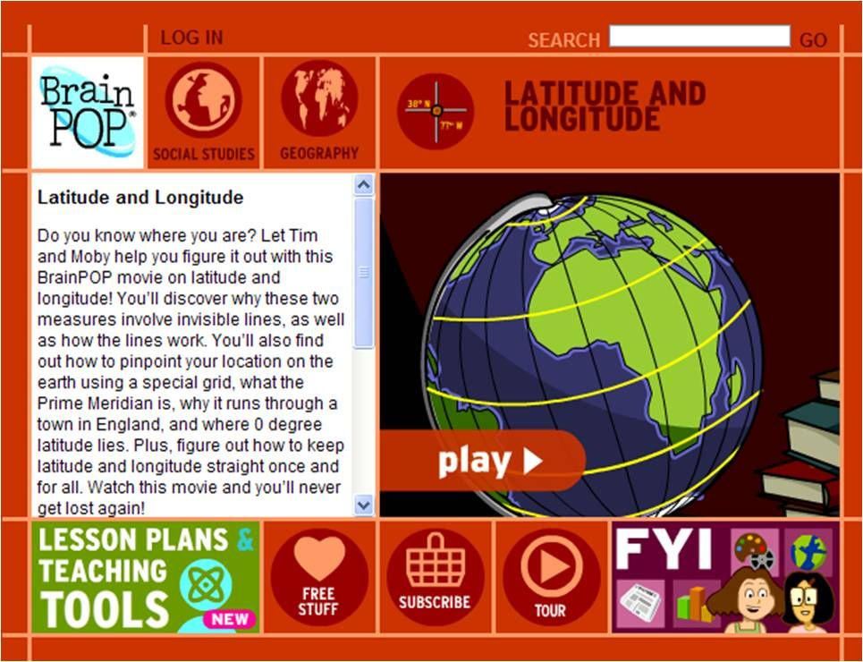 Brainpop  Latitude and Longitude  PSIA  MapsChartsGraphs