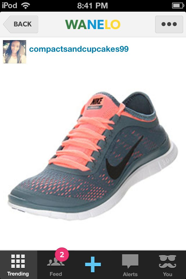 Gray Nike's with peach laces · All Black Nike ShoesPink ...