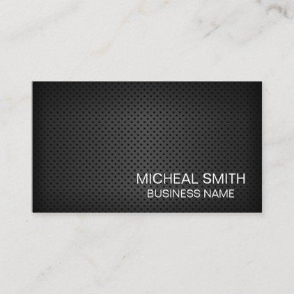 Simple Black Perforated Mesh Business Card Zazzle Com Colorful Business Card Business Cards Simple Custom Holiday Card