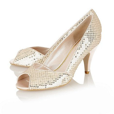 3cb6e6de8c82 Lotus Beige sequins  Imogen  open toe shoes - at Debenhams.com ...
