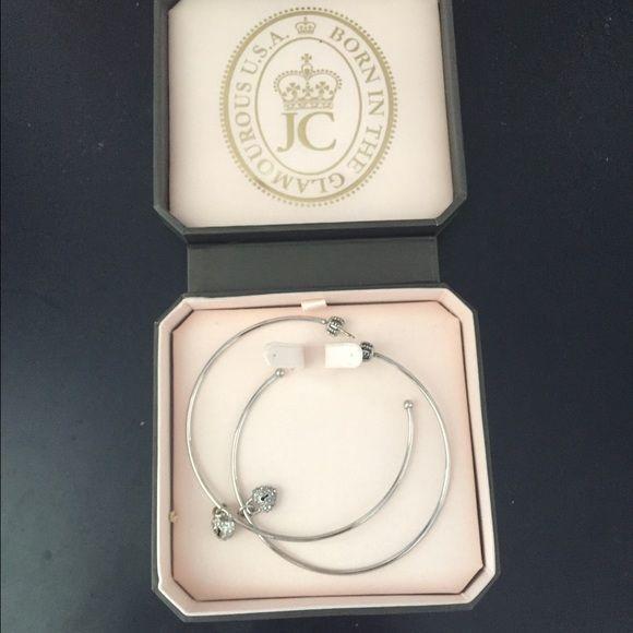 Juicy Couture Hoop Earrings Silver, never worn Juicy Couture Jewelry Earrings