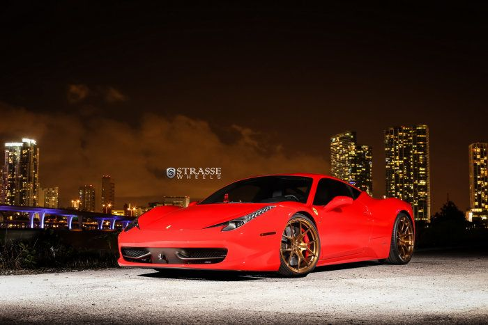 Ferrari 458 Italia Boasts Bronze Strasse Wheels