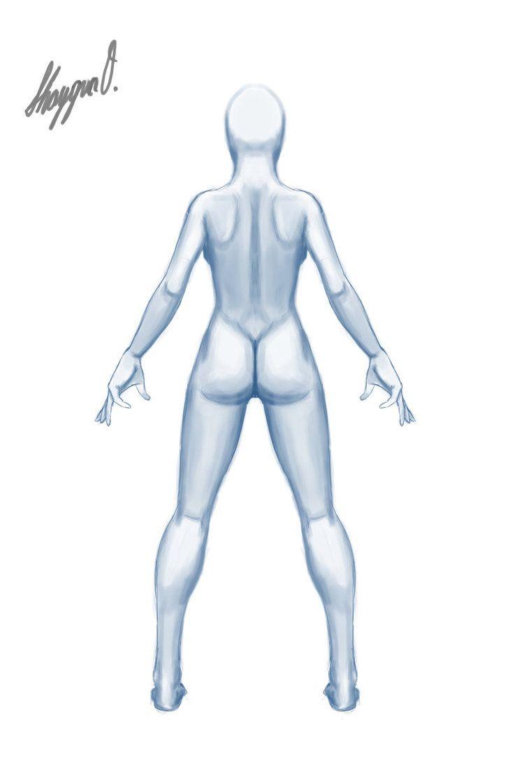 Female Anatomy Template Back By Shintenzu On Deviantart 5 Drawing