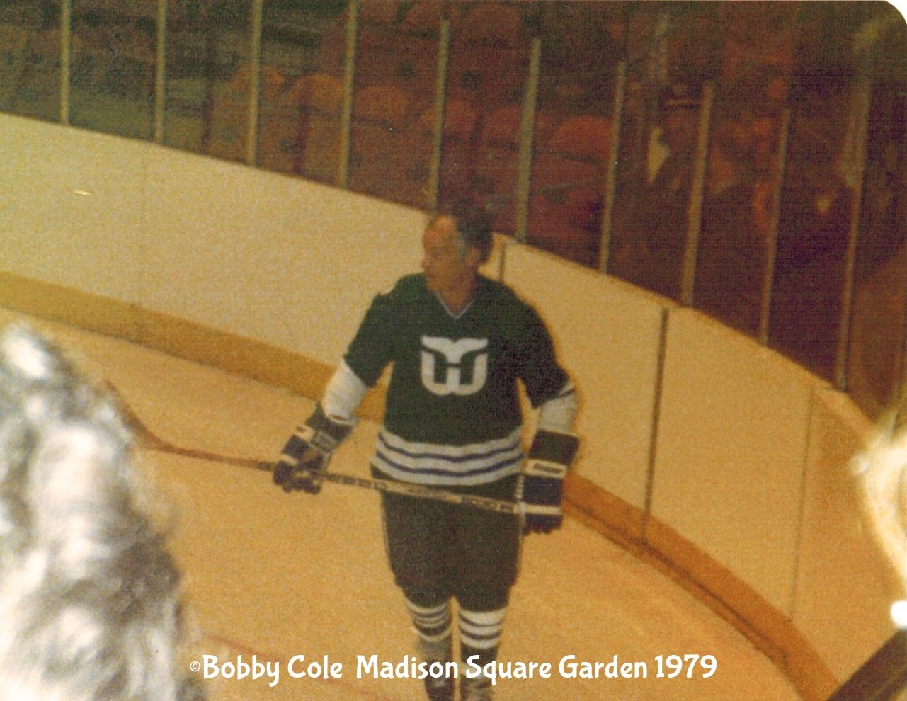 Took this shot of Gordie Howe at Madison Square Garden 1979 ...