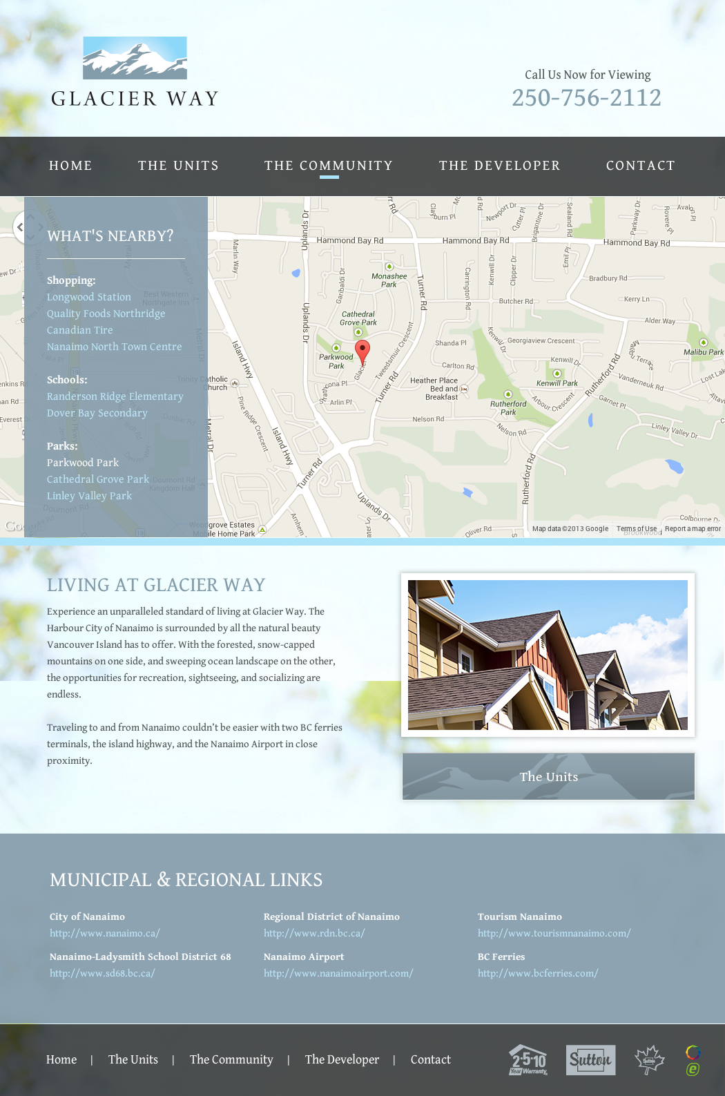 Recently Launched Glacier Way Townhomes Array Web Creative Nanaimo Townhome Developer Website Design Custom Website Design Website Design Design