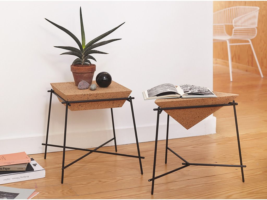 Side Table Cork Basil   PETITE FRITURE   Editeur De Design