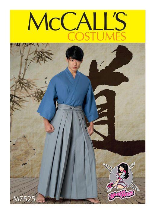 Hakama by YaYa Han for McCall\'s. M7525 kimono and pleated pants ...