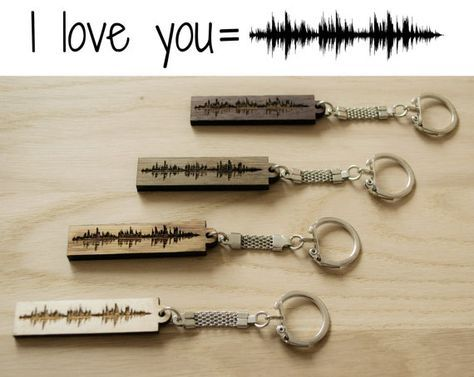 Sound Wave Keychain, Soundwave Keyring, Voicewave, Voice Wave, Music Song Art, Gift for Him, Gift for Her, Wooden Gift #musicsongs