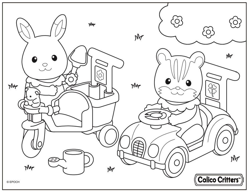 Calico Critters Baby Sister Grace Hopscotch Rabbit left
