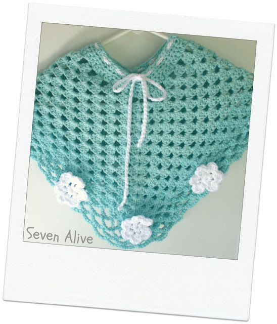 seven alive: crocheted baby poncho