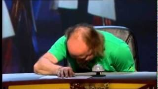 Bill Bailey and Alan Davies go mental on QI, via YouTube.