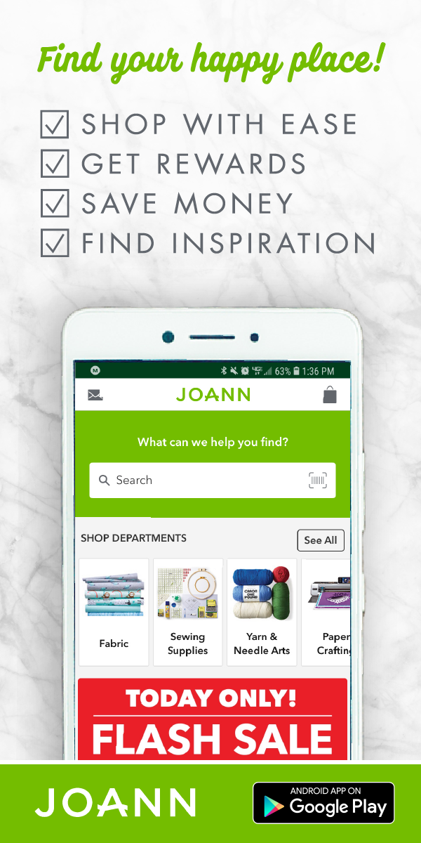 Browse, shop, and get inspired with the JOANN app! If you