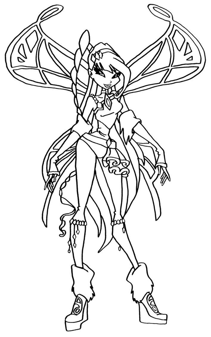 Coloring pages violetta - Winx Winx Clubcoloring Pagesfairy