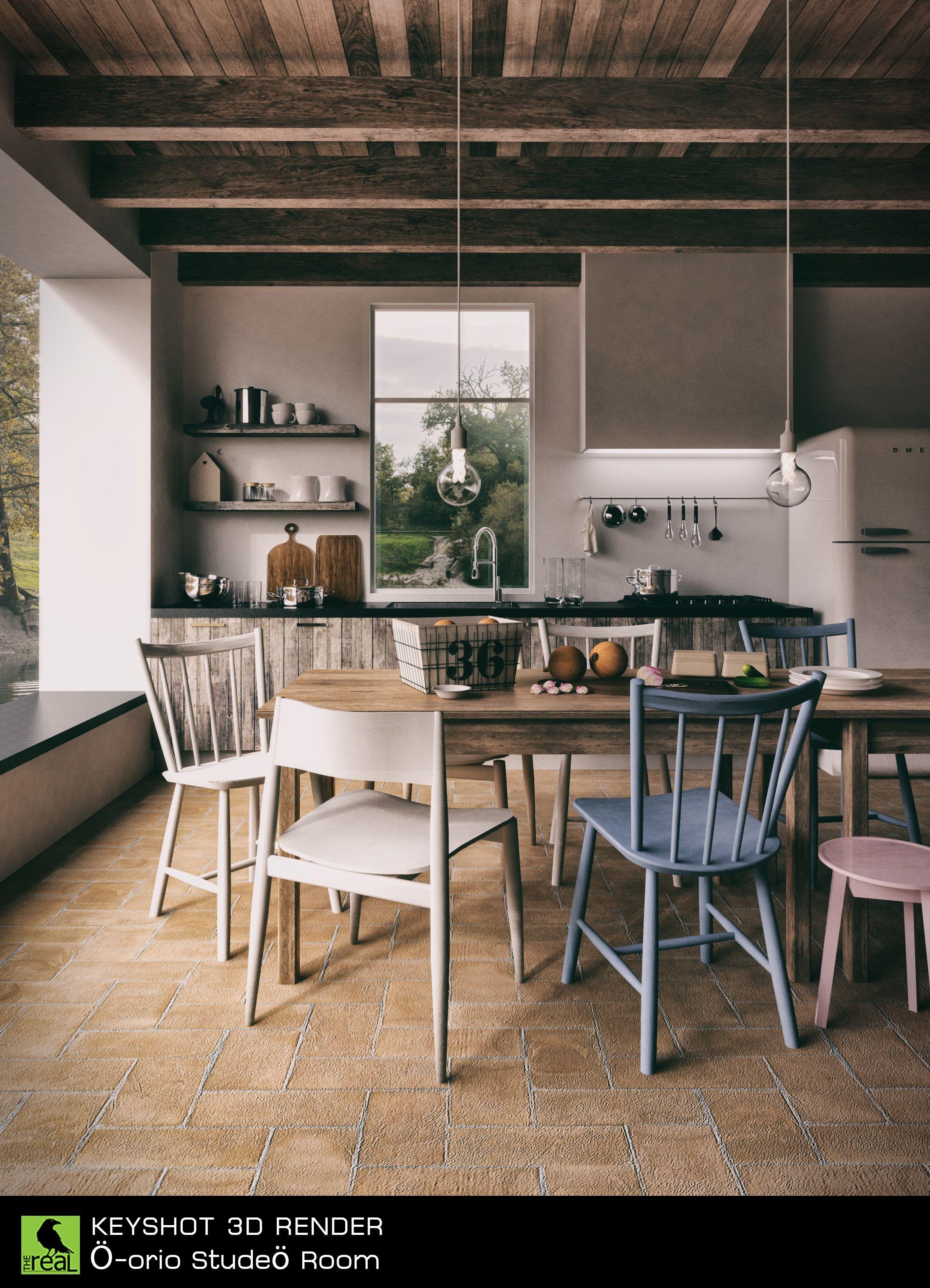 Kitchen interior rendered in KeyShot 6 by Boyd MeeJi