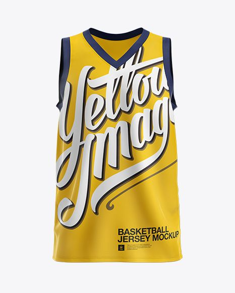 Download Basketball Jersey With V Neck Mockup Front View In Apparel Mockups On Yellow Images Object Mockups Clothing Mockup Design Mockup Free Shirt Mockup