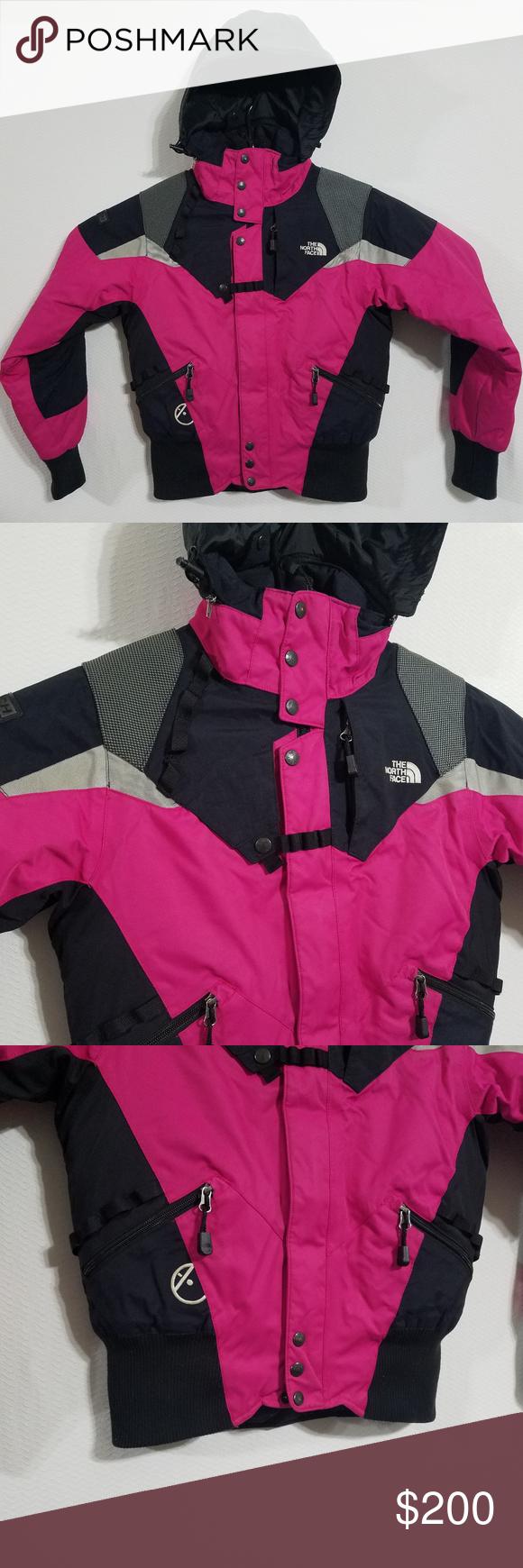 North Face Womens Small Pink Winter Jacket Coat North Face Jacket Womens North Face Coat North Face Women [ 1740 x 580 Pixel ]