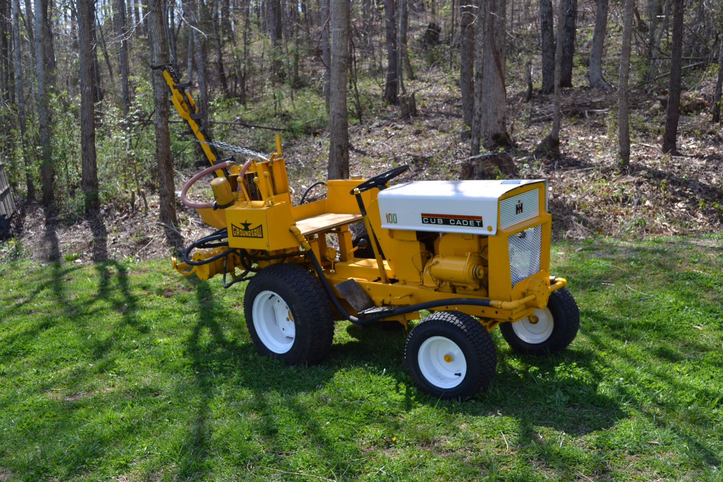 Cub cadet with groundsaw Just for fun Pinterest