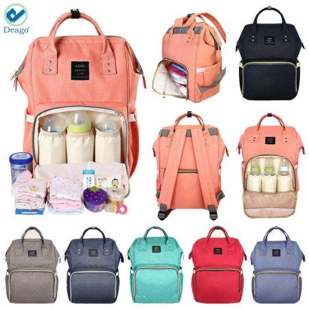 Baby Diaper Nappy Changing Mummy Bag Rucksack Hospital Maternity Backpack Black