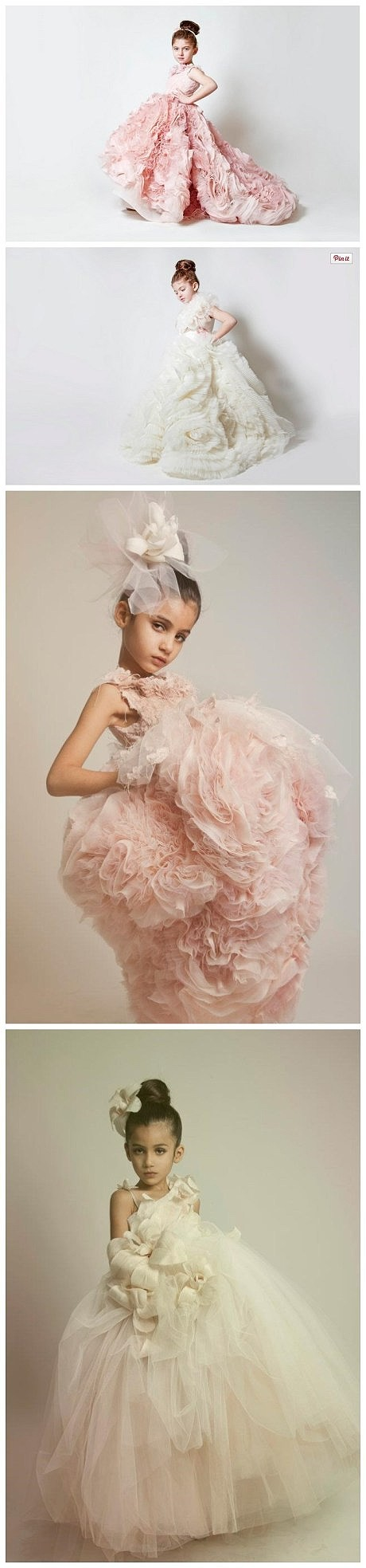 Little flower girl dress costume wedding ~ Meng-dimensional flowers die you will not!