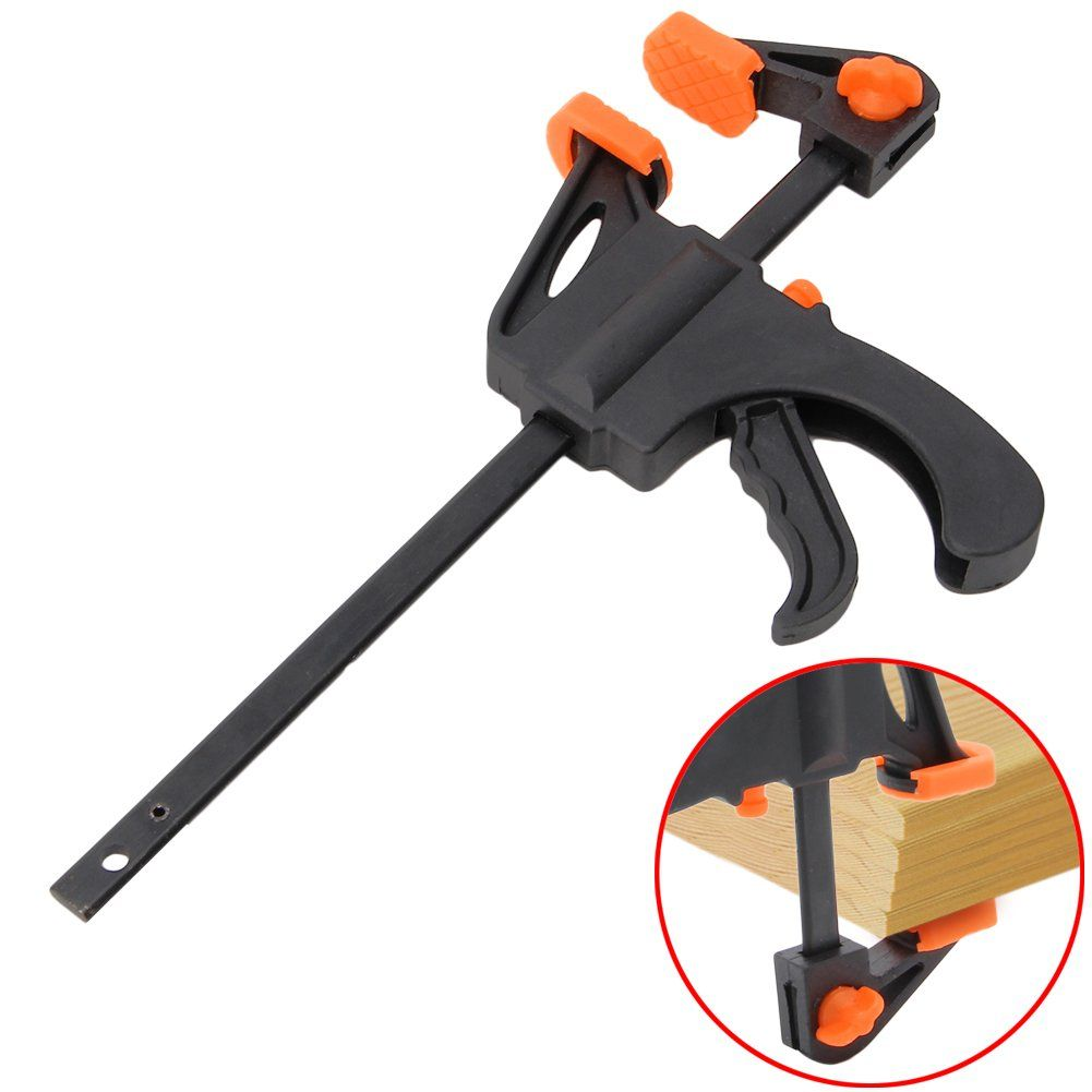 Amrka 4 inch woodworking bar clamp quick ratchet release