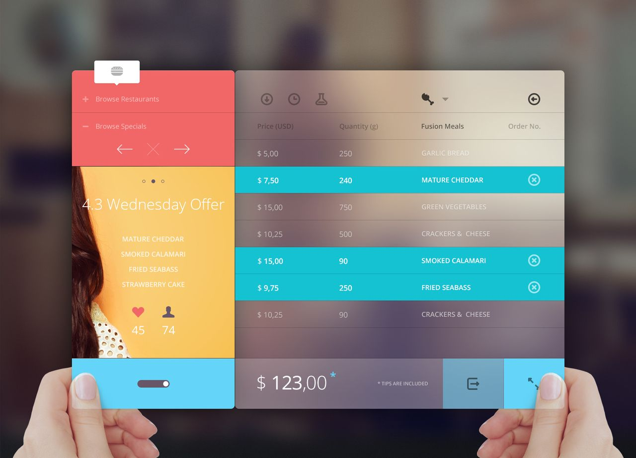 Digital Menu - beautiful app inspiration