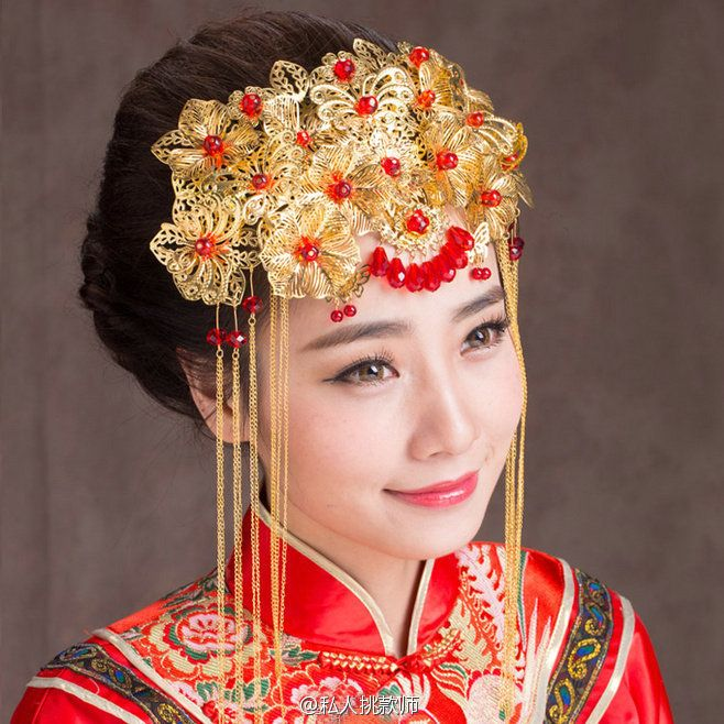 traditional chinese bridal headdress chinese style