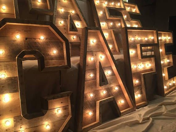 30 Lighted Marquee Letters Rustic Wood Lighting In 2020 Lighted Marquee Letters Light Up Letters Marquee Letters