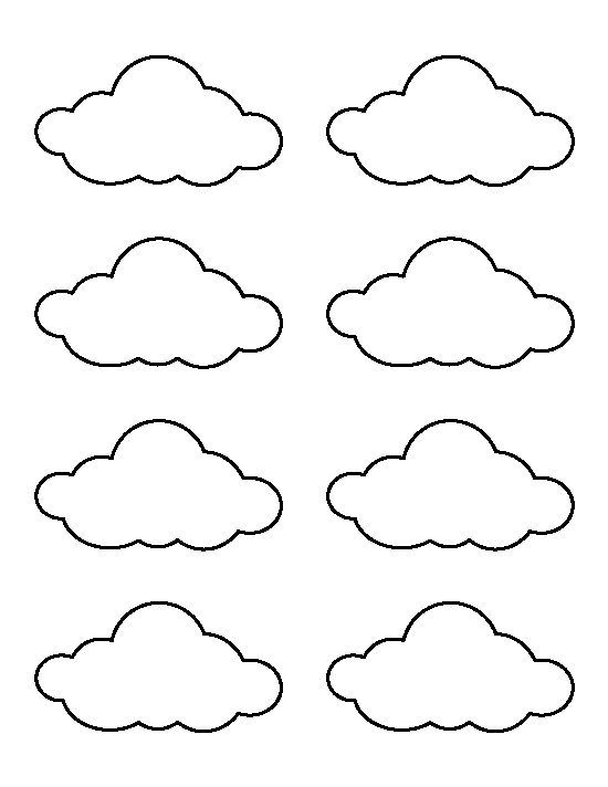 Small cloud pattern Use the printable outline for crafts - rainbow template