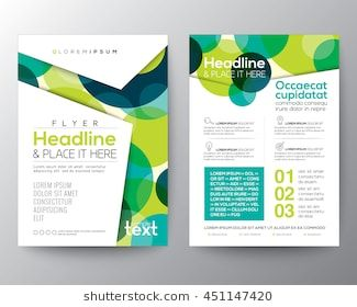 Abstract colorful green circles background for poster brochure flyer design layout vector template in  size also image subscriptions pinterest rh