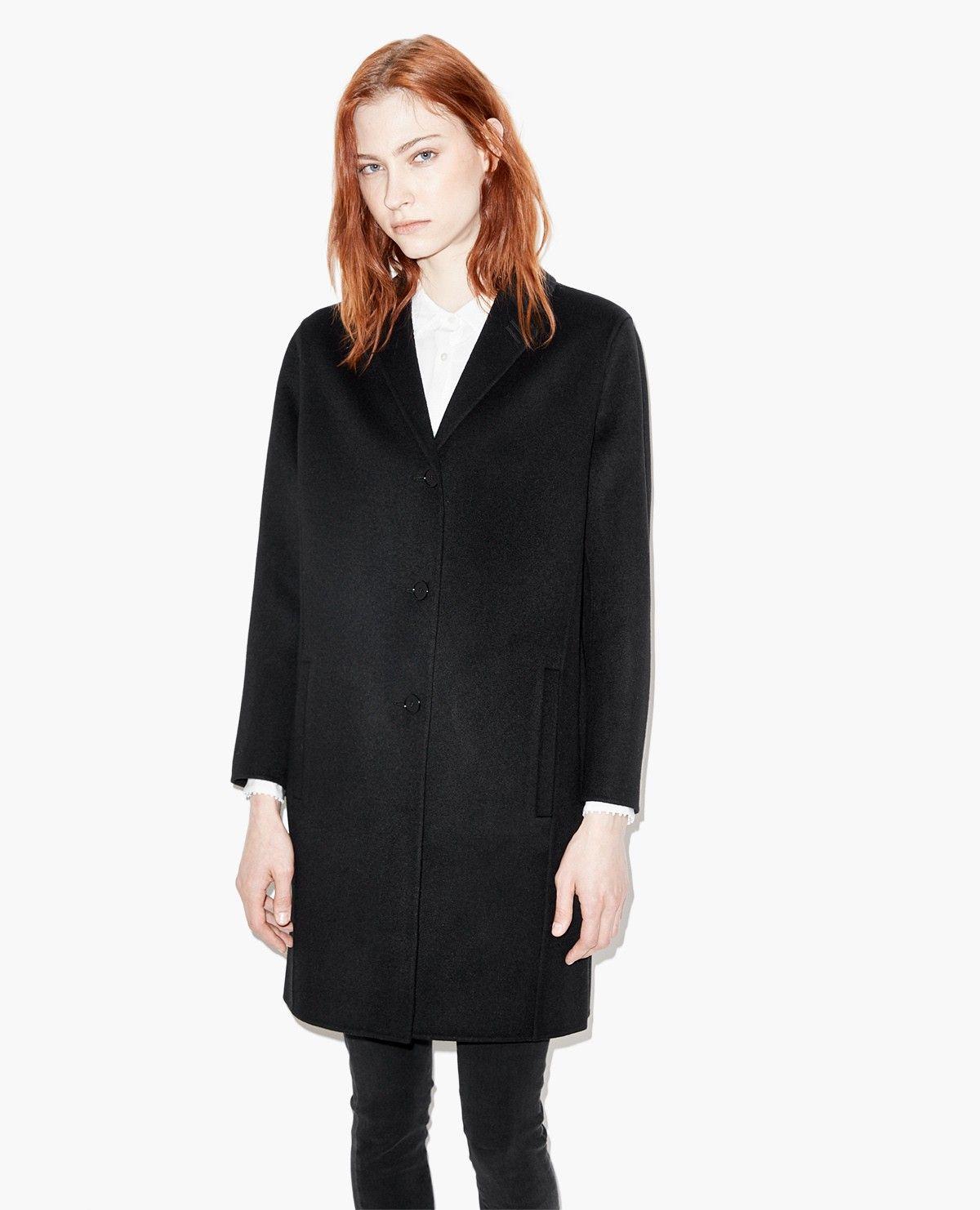 Manteau droit en flanelle