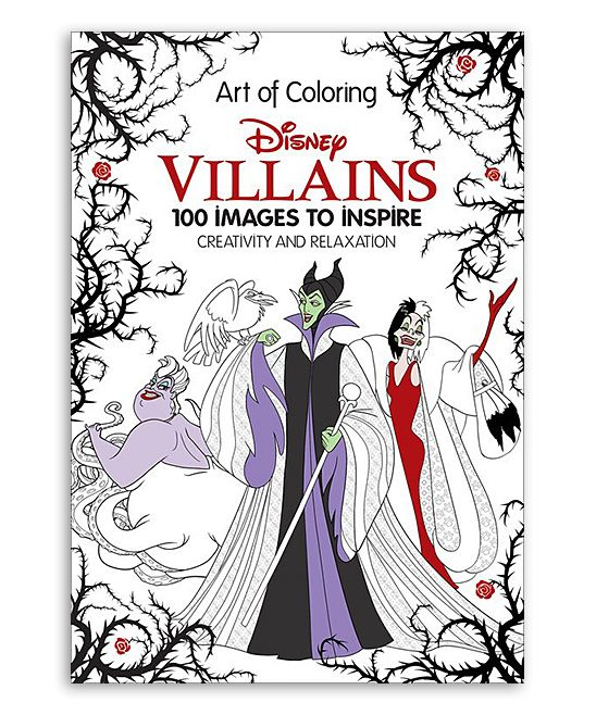 Art of Coloring Disney Villains Coloring Book | Disney villains and ...