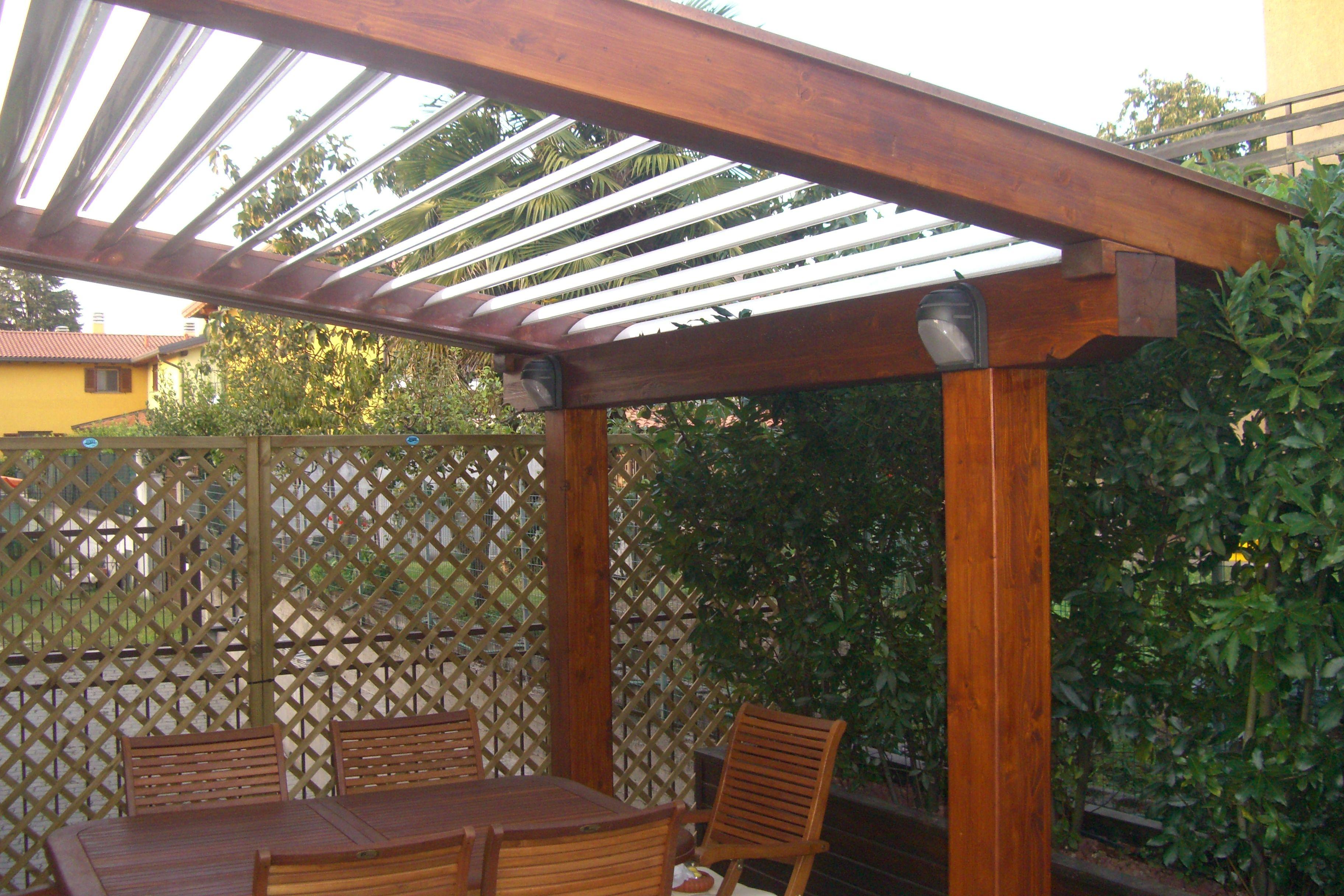 Gazebo Con Lamelle Orientabili pergola ouverture con struttura portante in legno | legno