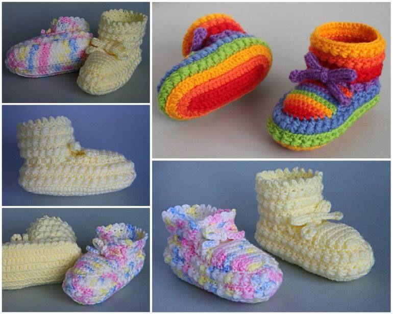 Wonderful DIY Crochet Daisy Stitch Baby Booties with Free Pattern   WonderfulDIY.com