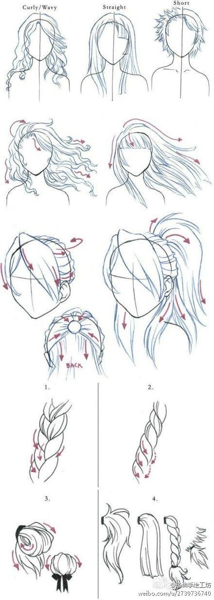 Pin By Spicy Meatball On Hair References Pinterest Drawings How