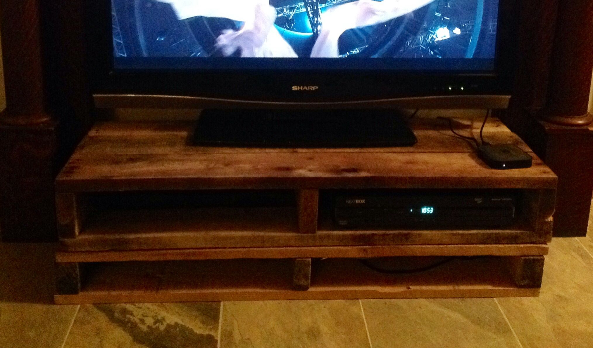TV stand out of skids