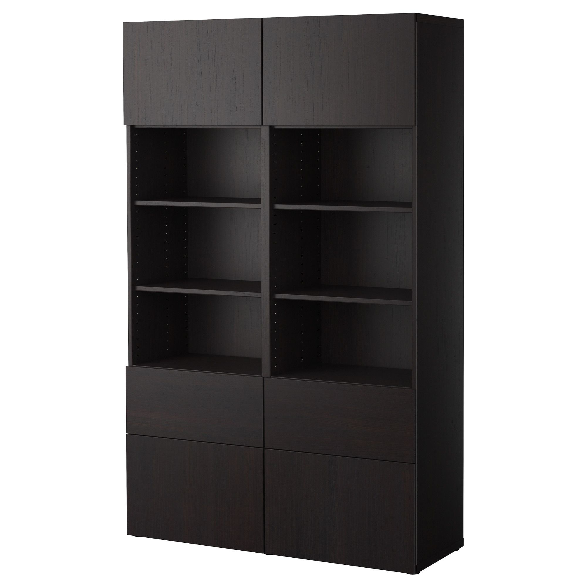 best storage combination w doors drawers black brown. Black Bedroom Furniture Sets. Home Design Ideas