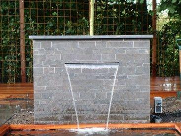 Waterval tuin pinterest tuin en idee n - Hedendaagse fontein ...