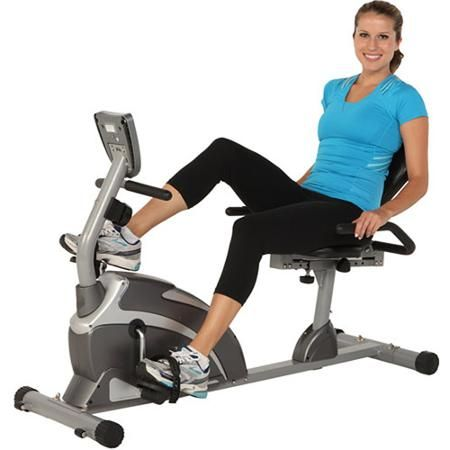 Recumbent Exercise Bike Stationary Bicycle Magnet Cardio Workout Fitness