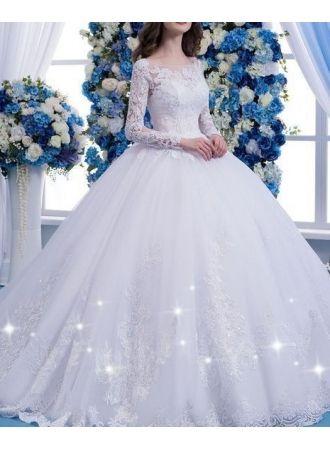designer weiße hochzeitskleider mit Ärmel spitze brautkleider online modellnummer xy162bc0759