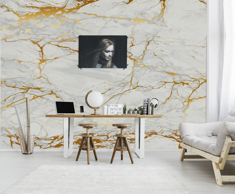 Grunge Marble Texture Wallpaper Home Decor Wall Decal Removable Peel And Stick Wallpaper Wall Decor Sticker Print Painting Clipart Boho Textured Wallpaper Wall Decor Gold Marble Wallpaper