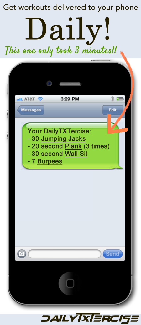 So cool! They send you a text message every day with your